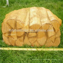 Пластиковый многоразовый лено сетка-мешок произведен для дров