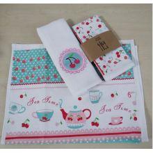 Algodão impressão promoção toalha de cozinha (qhdd677)