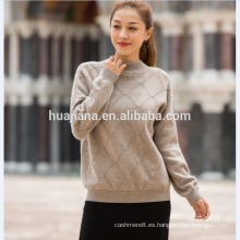 Suéter de cachemir de cuello redondo de mujer de moda 2017