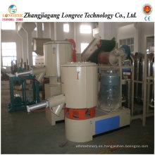 Mezclador plástico profesional del polvo del PVC, mezclador de alta velocidad del polvo del PVC, mezclador plástico de Turbo, unidad mezcladora de enfriamiento