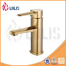 Single handle ceramic cartridge gold plated basin faucet (5111G)