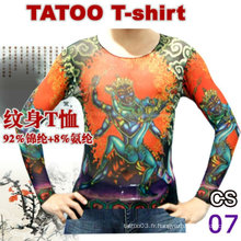 T-shirt de tatouage de mode plus grand taille 2016