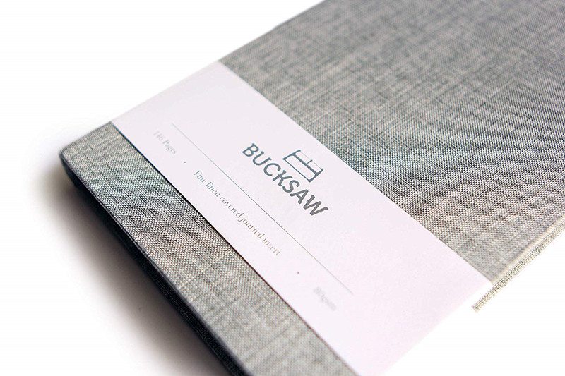 Grey Cloth Cover Notebook 2