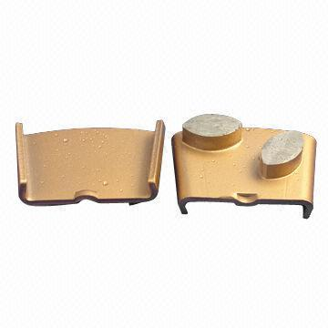 Diamond-shaped HTC Grinding Blocks for Grinding Concrete and Terrazzo, with Two-oval Segments