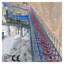 Gravity Gravel Sand Rubber Belt Conveyor