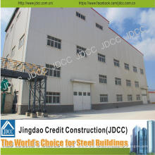 Bâtiment élevé d'usine de structure en acier de lumière de galvanisation de haute élévation de haute qualité