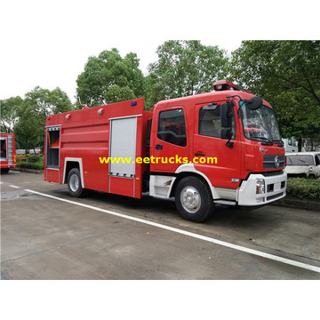 2000 galones 210hp Rescue Fire Fighting Trucks