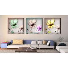 Оптовые растянутые печати холста, абстрактные цветы стены искусства,