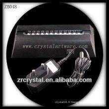 Base lumineuse en plastique de LED pour le cristal