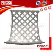 respaldo de aluminio para partes de muebles