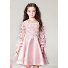 маленькая девочка платье королевы scoop декольте рукавов сексиес девочек в жаркую ночь платье ED790