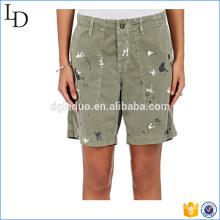 Short de carrgo mince spécial peint à la main en plein air jure shorts pour les femmes