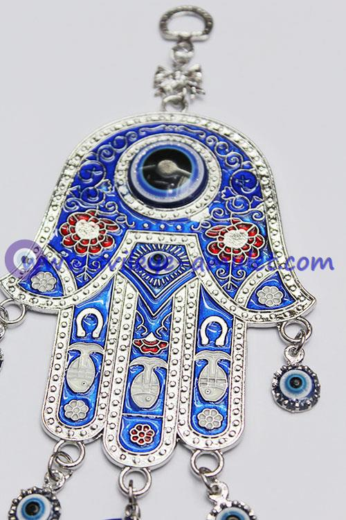 Evil Eye Decoration Wall Hanging : Blue hamsa evil eye charm amulet hanging car wall
