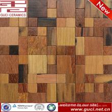 producto de diseño caliente mezclado piso de mosaico de madera maciza y azulejo de la pared
