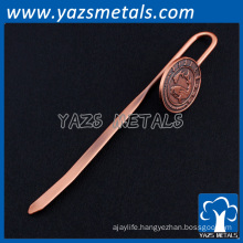 promotion antique custom stainless steel bookmarks