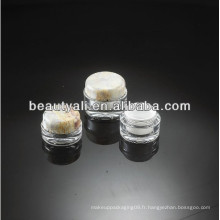 15ml 30ml 50ml 100ml Emballage riche en acrylique rond en acrylique rond