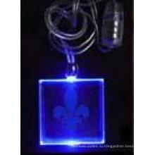 светло-синий кулон ожерелье