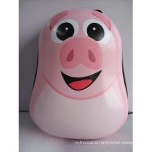 Mochila rosada linda de los animales de la PC para los niños (HX-W3587)