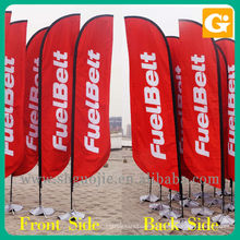 Roadside flag banners advertising printing
