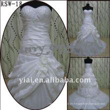 RSW-18 2011 Venta caliente nuevo diseño damas moda elegante personalizado hermosa volante rebordeado vestido nupcial