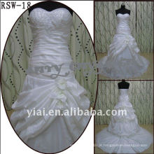 RSW-18 2011 Hot Sell New Design Ladies Fashionable Elegante Customized Beautiful Ruffle Beaded Bridal Dress