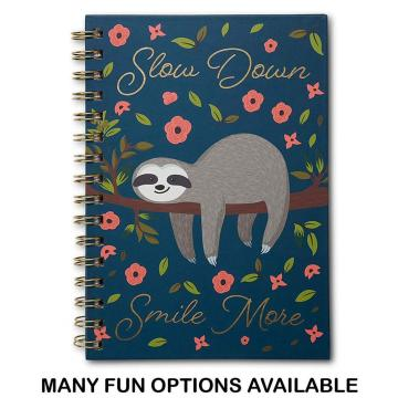 SLOTH SPIRAL NOTEBOOK -0