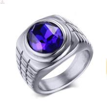 Anéis de casamento de aço inoxidável de pedra do embutimento da forma do estiramento