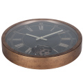 Jam Dinding Retro Rustic Gear 16 Inches