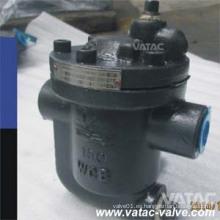 Vatac ANSI Class150lbs / Class300lbs Trampa de vapor con cuchara invertida con rosca / extremos NPT