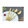 Stainless Steel Tableware Spoons Forks Knives  Gold Cutlery Set Flatware Set
