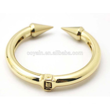 Gold Heavy Jewelry Bangle Alloy Anchor Cuff Bracelet