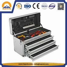 Pecho de almacenamiento de información de herramienta de aluminio con 3 cajones (HT-1227)