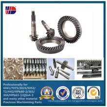 C45 Rack helicoidal recto y piñón con orificios de montaje Rack de engranajes