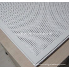 Acoustic Insulated Perforated Gypsum Board Suspended False Ceiling Tile