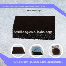Water Treatment Activated Charcoal Carbon Filter Sponge Carbon Filter Media
