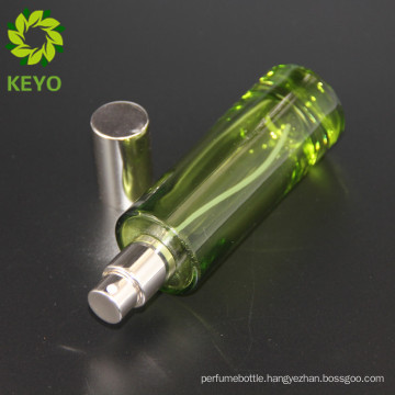 30ml 1oz colored thick bottom perfume bottles frosted glass with aluminum sprayer pump cap