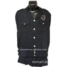 men's navy blue cool public security uniform for guard