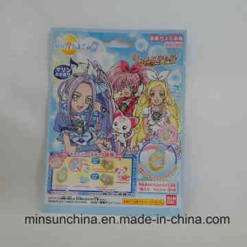 Bolsa de plástico de 3 sellos laterales de colores para juguetes de embalaje