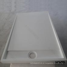 retângulo grande da base do chuveiro, nós bases feitas sob encomenda do chuveiro do mármore