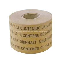 Fita de impressão personalizada de fita kraft impressa