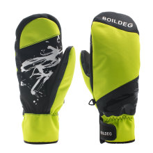 Super Quality Silicon Print Winter 3m Thinsulate Snowboard Ski Gloves