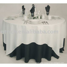 Polyester tablecloth, hotel/banquet table cover, table overlay