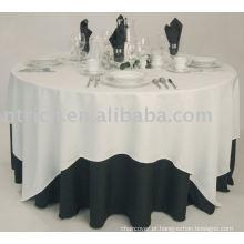 Toalha de mesa em poliéster, capa para mesa de hotel / banquete, sobreposição de mesa