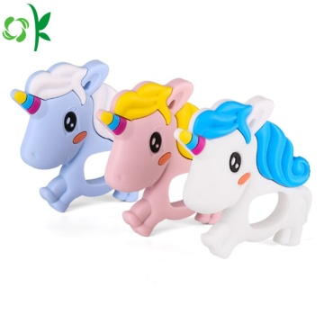 Teether do bebê do silicone do Unicorn livre de BPA para a venda