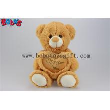 Brinquedos Brinquedos Presente Brown Eu te amo Urso de pelúcia com travesseiro de coração