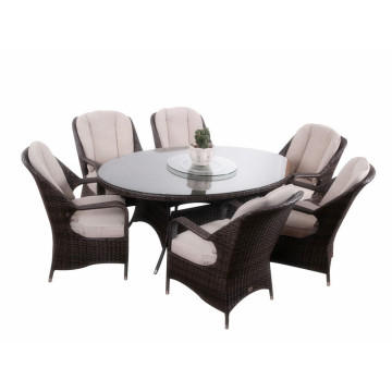 Manufacturer of for Garden Table And Chairs 7pc modern  rattan dinner furniture set export to Trinidad and Tobago Wholesale