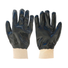 fully coated single dipped PVC working gloves with smooth finish