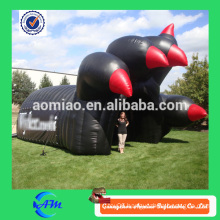 Giant large inflatable eagle tunnel cheap black inflatable adult tunnel for sale