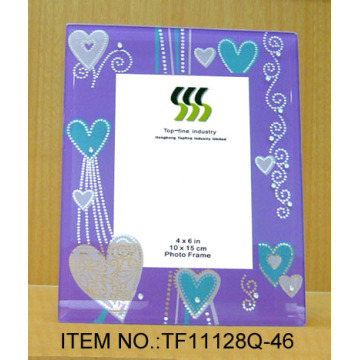Mirror Wash Acrylic Beads Glass Photo Frame