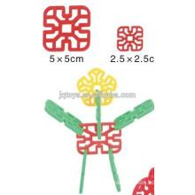 JQ 1014 bloqueio blocos geométricos de flocos de neve para crianças